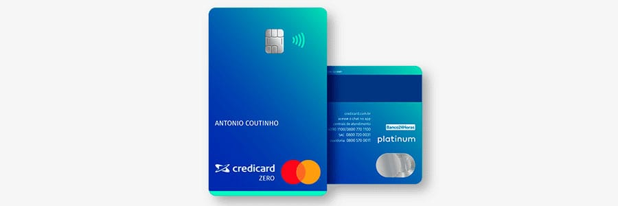 Cartão sem anuidade Credicard Zero