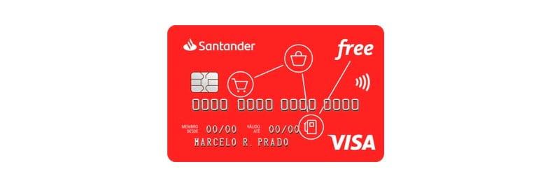 Cartão sem anuidade Santander